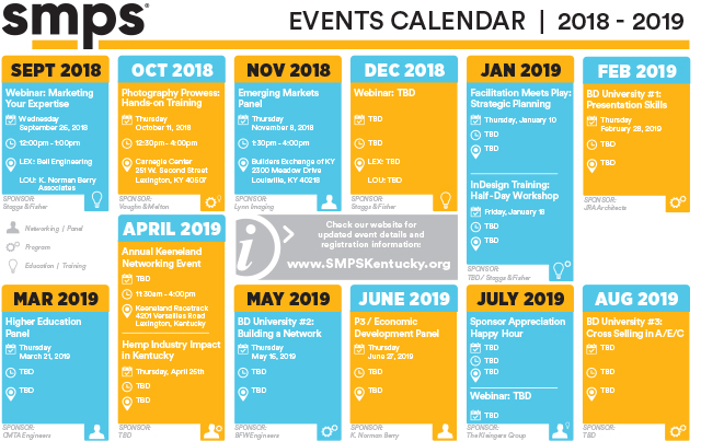 SMPS KY Events Calendar